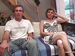 Amatør franske par har sex foran vores kamera