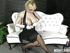 Monicamilf i en klassisk 30 & s porno video - norsk porno