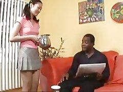 Evelyn lin får en smag af sort mand & s cum
