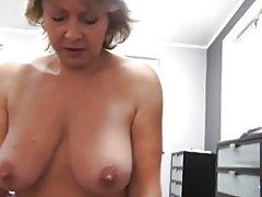 hængende bryster læder porno