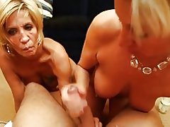 2 blonde MILF - pov