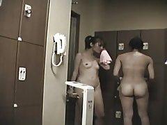Asiatiske voyeur omklædningsrum