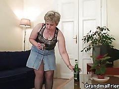 Gamle granny dobbelt penetration